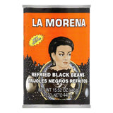 La Morena Refried Black Beans, 15.52 Oz (Pack of 12)
