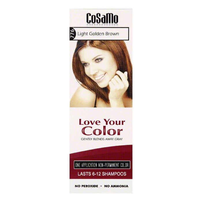 Cosamo Light Golden Brown 776 Non-Permanent Color, 3 Oz