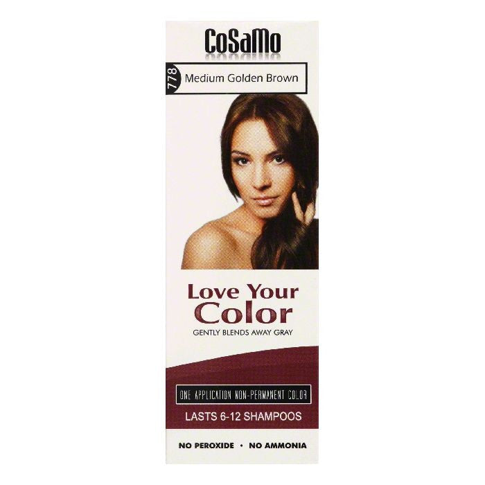 Cosamo Medium Golden Brown 778 Non-Permanent Color, 3 Oz