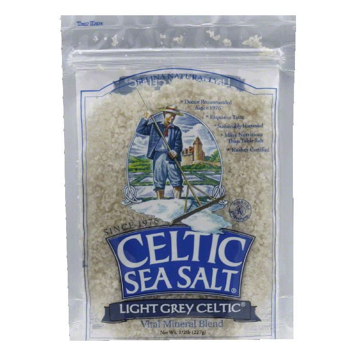 Celtic Sea Salt Light Grey Pouch, 8 OZ (Pack of 6)