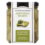 Cucina & Amore Marinated Quartered Artichoke Hearts, 14.5 Oz (Pack of 6)