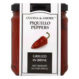 Cucina & Amore Grilled in Brine Whole Piquillo Peppers, 14.5 Oz (Pack of 6)