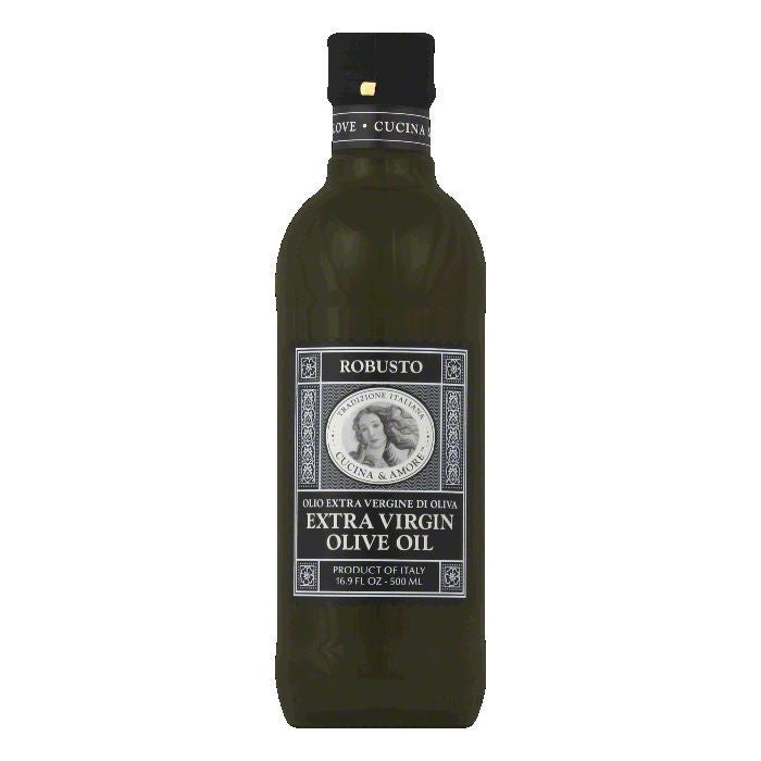 Cucina & Amore Robusto Extra Virgin Olive Oil, 16.9 Oz (Pack of 6)