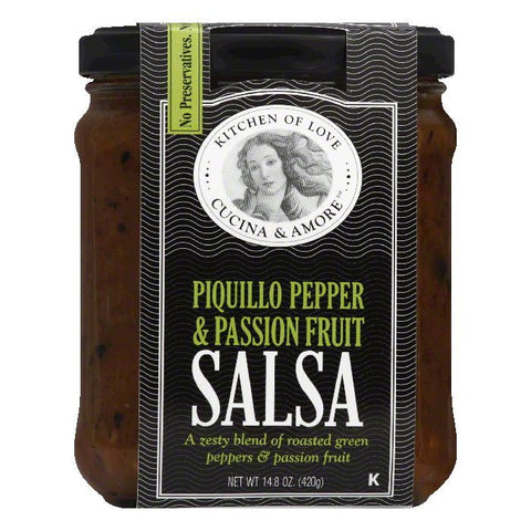 Cucina & Amore Piquillo Pepper & Passion Fruit Salsa, 14.5 Oz (Pack of 6)