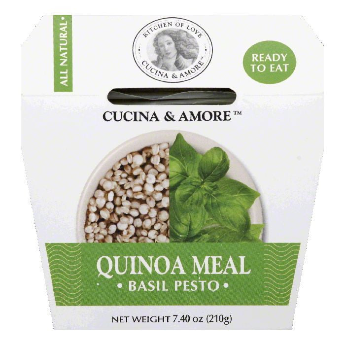 Cucina & Amore Basil Pesto Quinoa Meal, 7.4 OZ (Pack of 6)