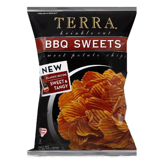 Tera Chips Chip BBQ Sweet Pptatoe, 5.75 OZ (Pack of 12)