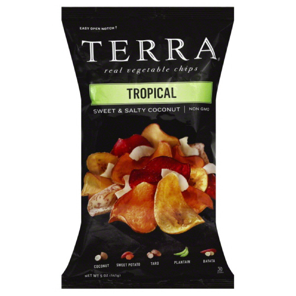 Terra Tropical Real Vegetable Chips, 5 Oz (Pack of 12)