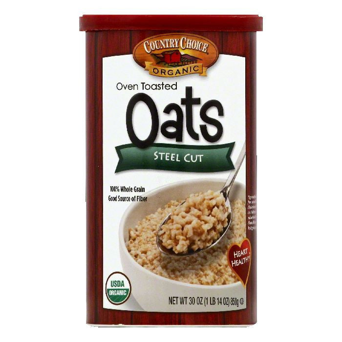 Country Choice Steel Cut Oven Toasted Oats, 30 OZ (Pack of 6)