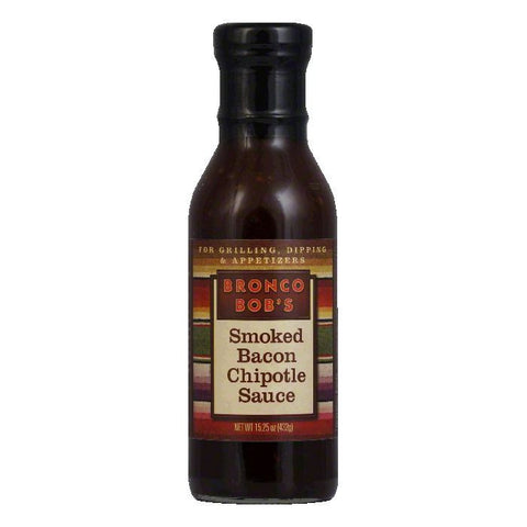 Bronco Bobs Smoked Bacon Chipotle Sauce, 15.25 OZ (Pack of 6)