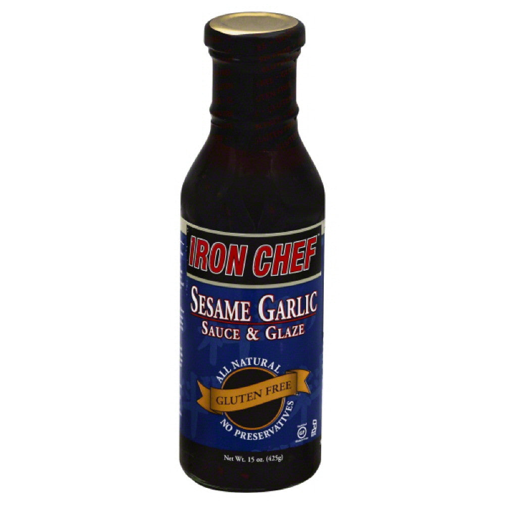 Iron Chef Sesame Garlic Sauce & Glaze, 15 Oz (Pack of 6)