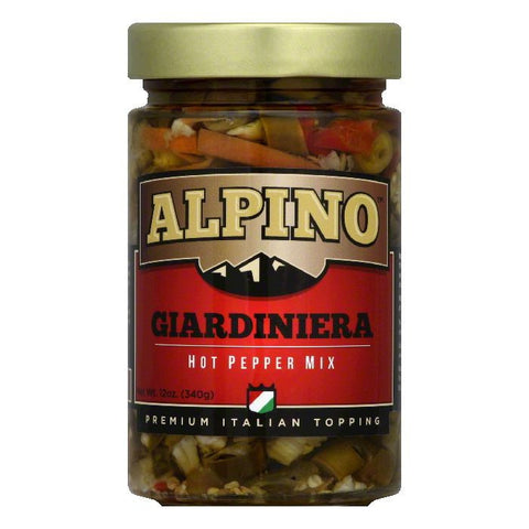 Alpino Giardiniera Hot Pepper Mix, 12 Oz (Pack of 6)