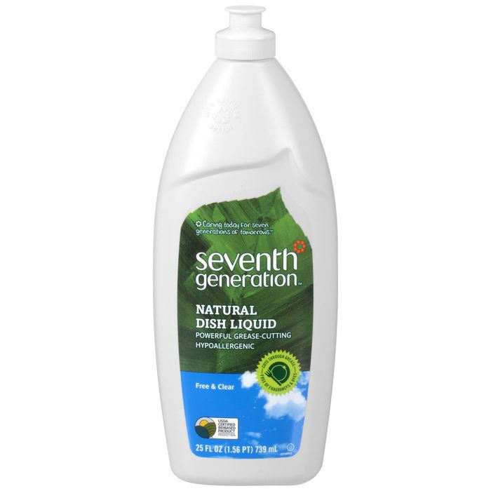 Seventh Generation Natural Free & Clear Dish Liquid 25 fl. Oz  (Pack of 12)