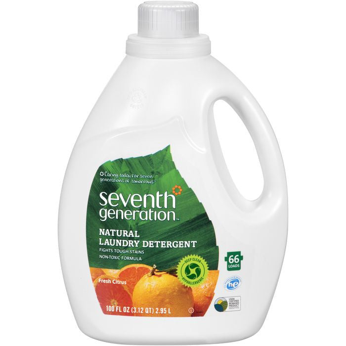 Seventh Generation Fresh Citrus Natural Laundry Detergent 100 fl. Oz Jug (Pack of 4)
