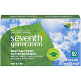 Seventh Generation Free & Clear Natural Fabric Softener Sheets 80 ct  (Pack of 12)