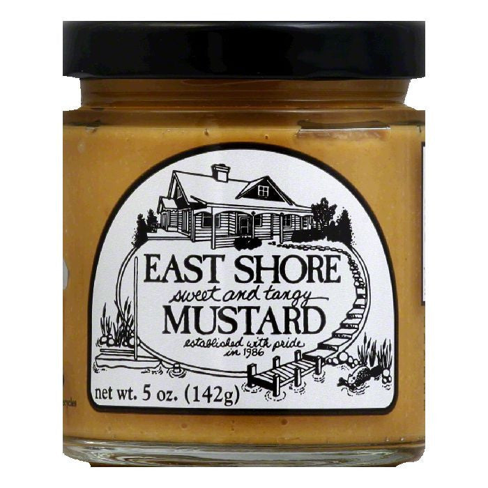 East Shore Mustard Sweet Tangy, 5 OZ (Pack of 12)