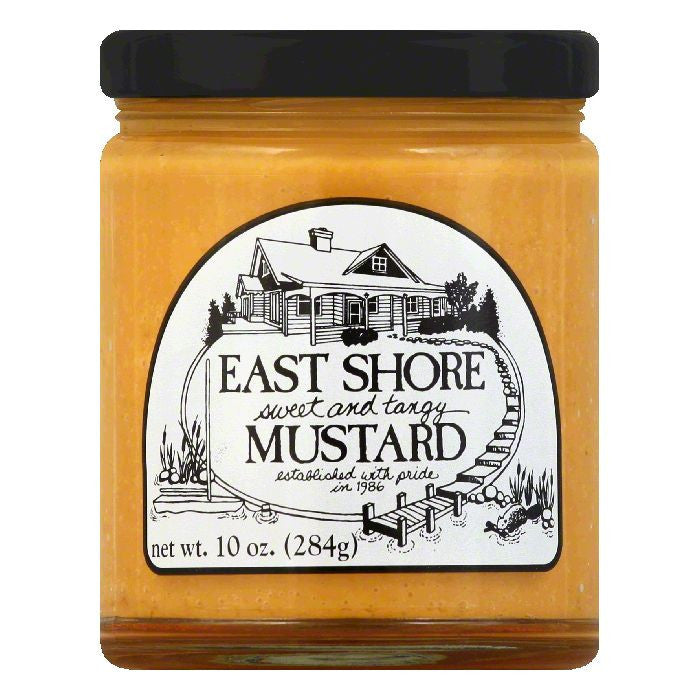 East Shore Mustard Sweet Tangy, 10 OZ (Pack of 12)