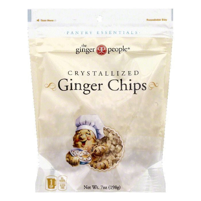 The Ginger People Crystallized Ginger Chips, 7 OZ (Pack of 12)