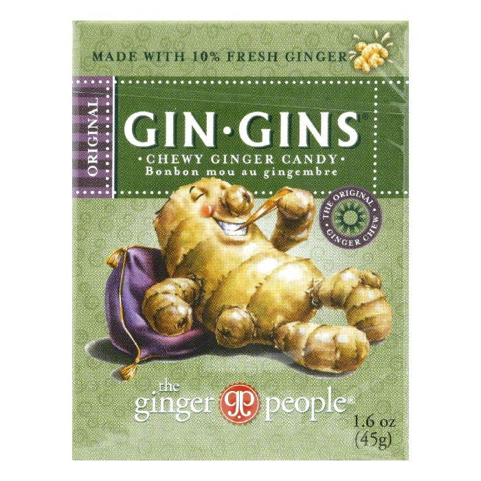 The Ginger People Travel size Original Chewy Ginger, 1.6 OZ (Pack of 24)