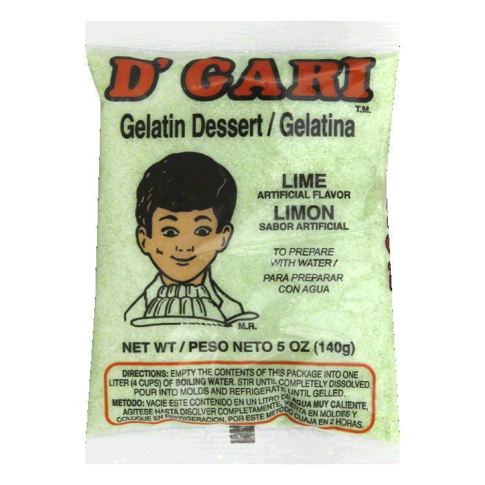 D Gari Lime Gelatin Dessert, 5 Oz (Pack of 24)