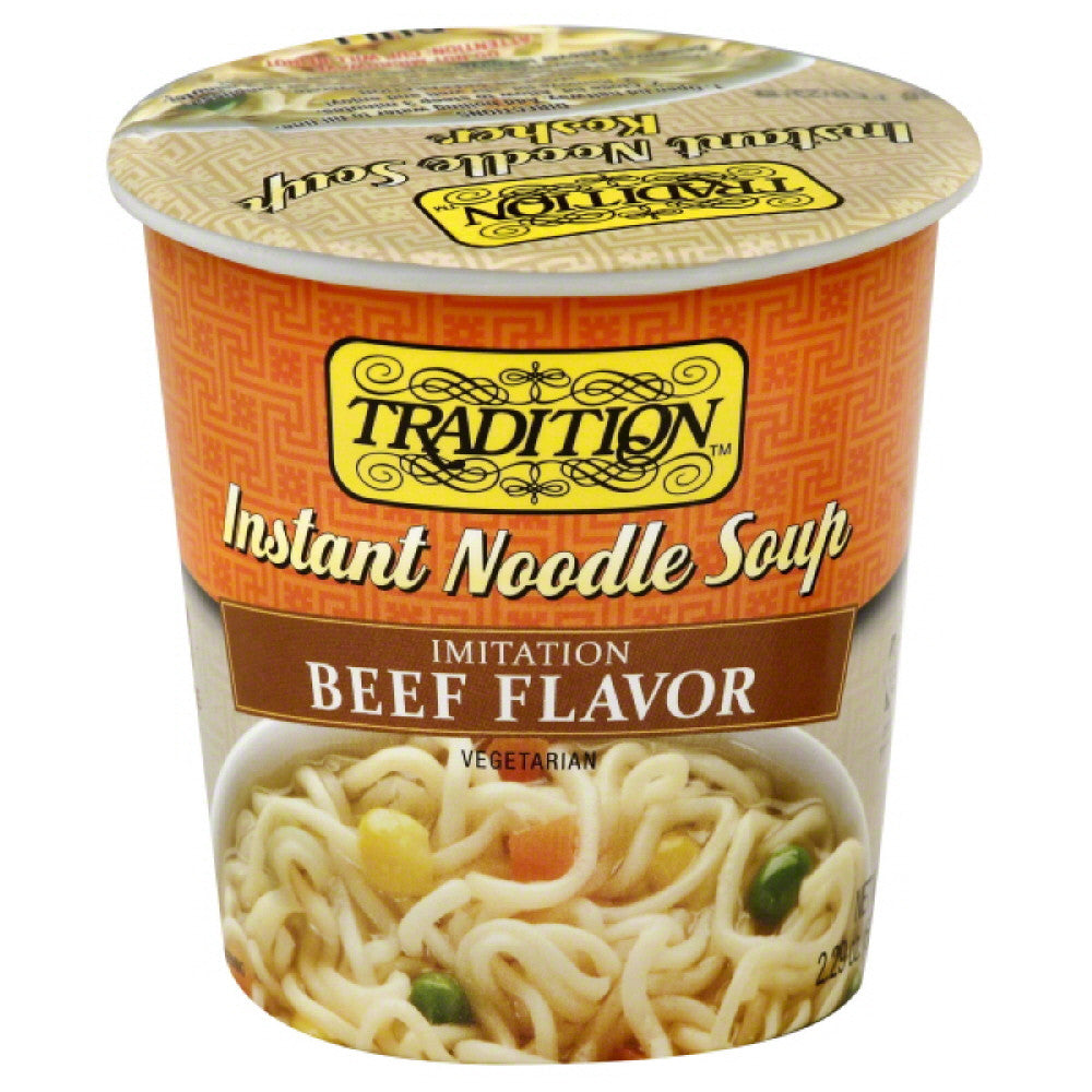 Tradition Imitation Beef Flavor Instant Noodle Soup, 2.29 Oz (Pack of 12)