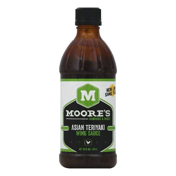 Moores Asian Teriyaki Wing Sauce, 16 OZ (Pack of 6)