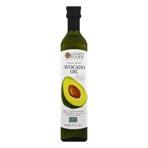 Chosen Foods 100% Pure Avocado Oil, 16 OZ (Pack of 6)