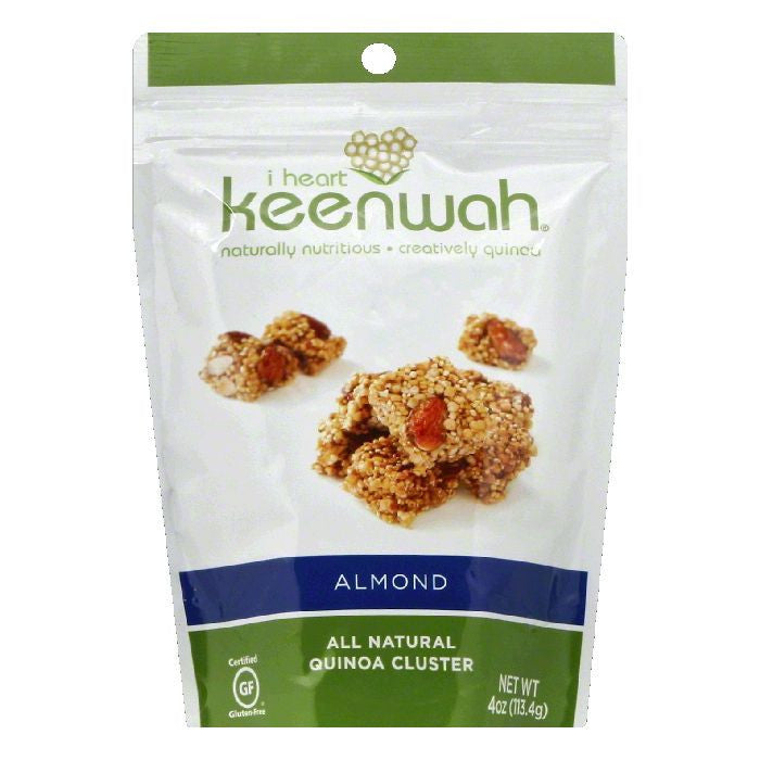 I Heart Keenwah Almond Quinoa Cluster, 4 OZ  ( Pack of  6)