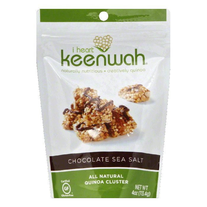 I Heart Keenwah Chocolate Sea Salt Quinoa Cluster, 4 OZ  ( Pack of  6)