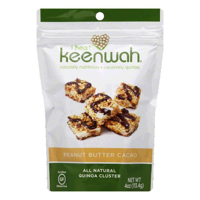 I Heart Keenwah Peanut Butter Cacao Quinoa Cluster, 4 OZ  ( Pack of  6)