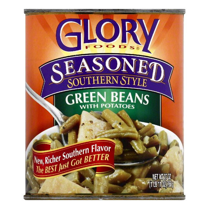 Glory Foods Green Beans with Potatoes, 27 OZ (Pack of 12)