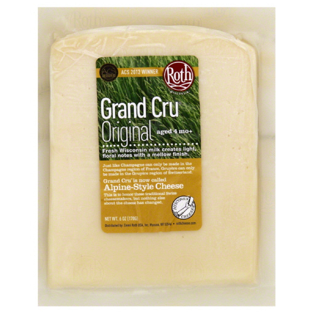 Grand Cru Original Alpine-Style Cheese, 6 Oz (Pack of 12)