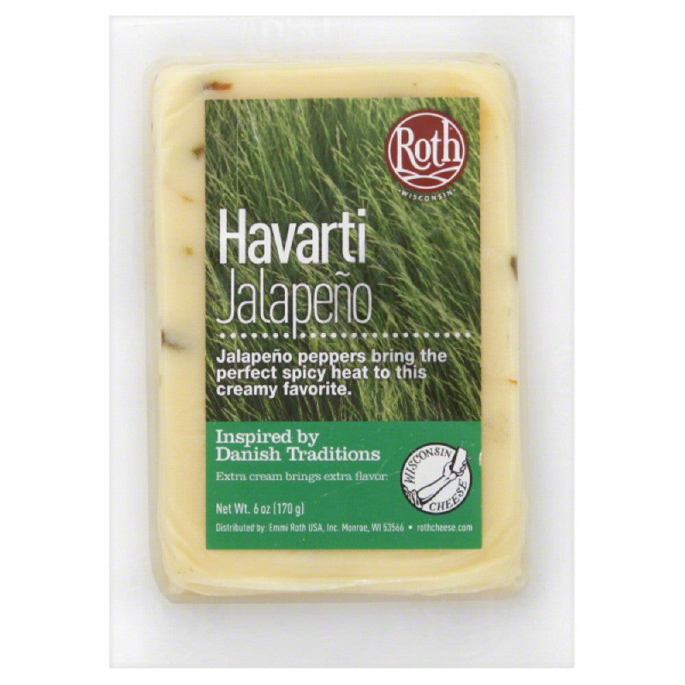 Roth Jalapeno Havarti Cheese, 6 Oz (Pack of 12)