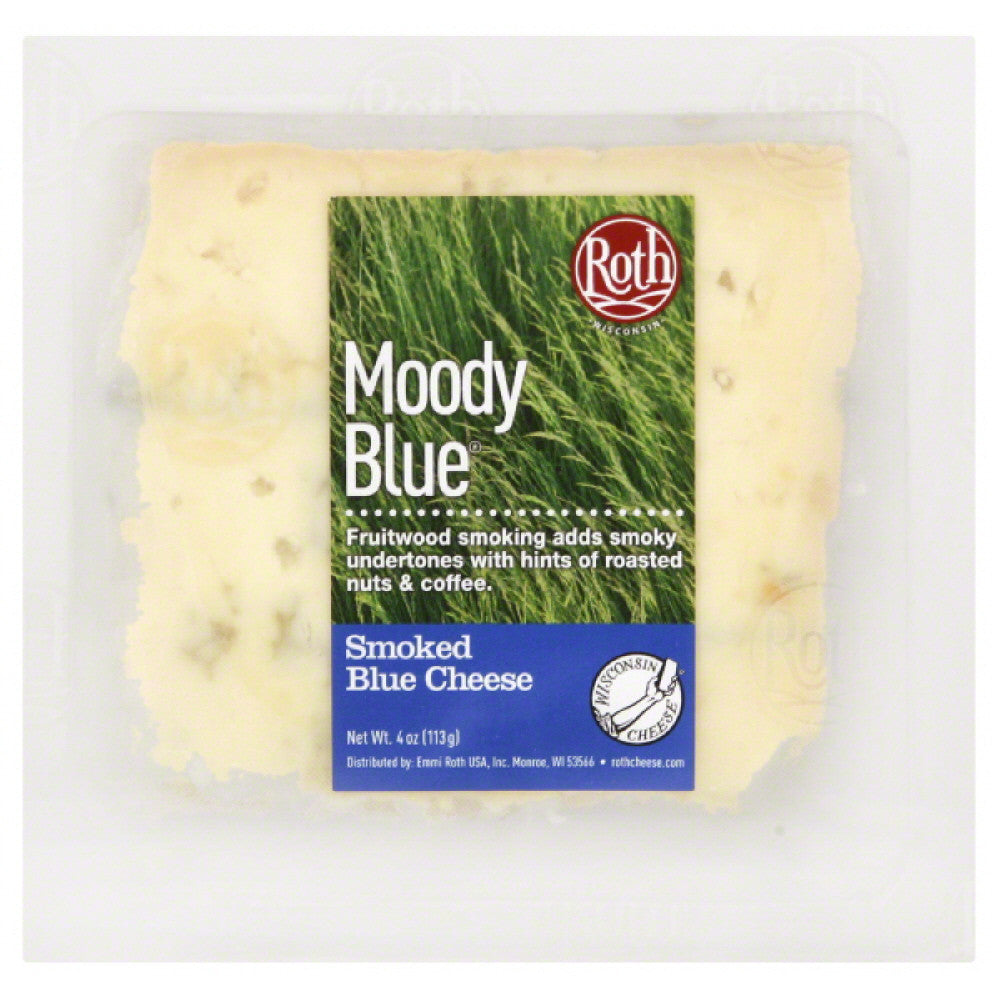 Roth Moody Blue Smoked Blue Cheese, 4 Oz (Pack of 12)