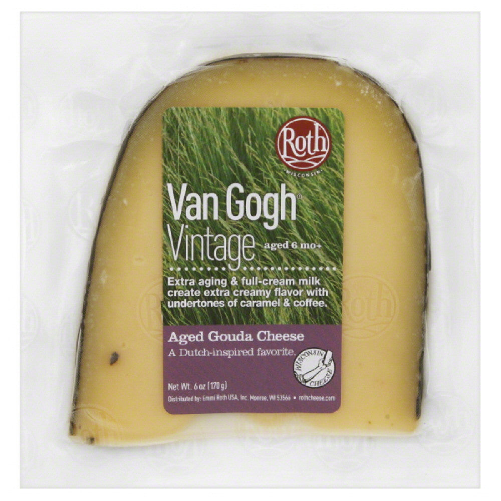 Roth Van Gogh Vintage Gouda Aged Cheese, 6 Oz (Pack of 12)