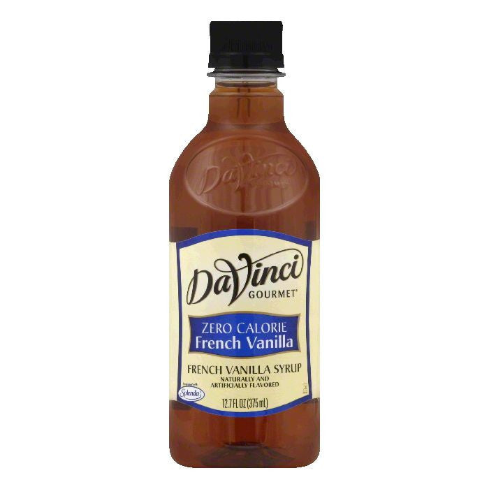 DaVinci Gourmet Zero Calorie French Vanilla Syrup, 12.7 Oz (Pack of 6)