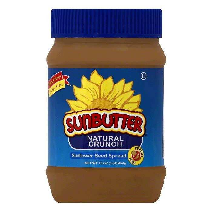 SunButter Natural Crunch Sunflower Seed Spread, 16 OZ (Pack of 6)