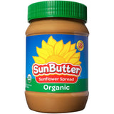 SunButter Organic Sunflower Spread 16 Oz  (Pack of 6)
