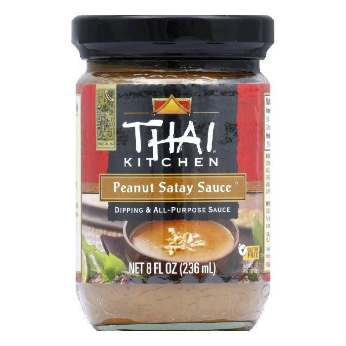 Thai Kitchen Medium Dipping & All-Purpose Sauce Peanut Satay Sauce, 8 Oz (Pack of 6)