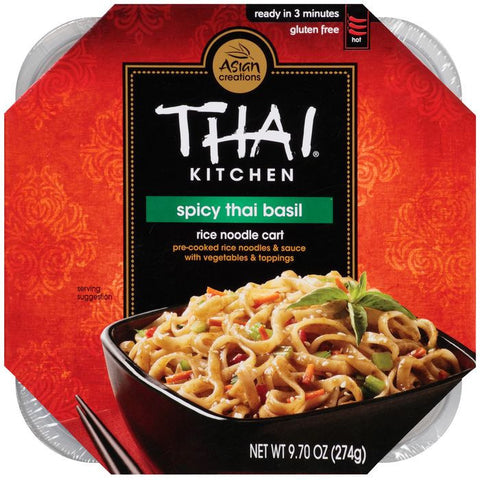 Thai Kitchen Rice Noodle Cart Spicy Thai Basil 9.70 Oz Microwave Bowl (Pack of 6)