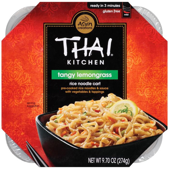 Thai Kitchen Rice Noodle Cart Tangy Lemongrass 9.70 Oz Microwave Bowl (Pack of 6)