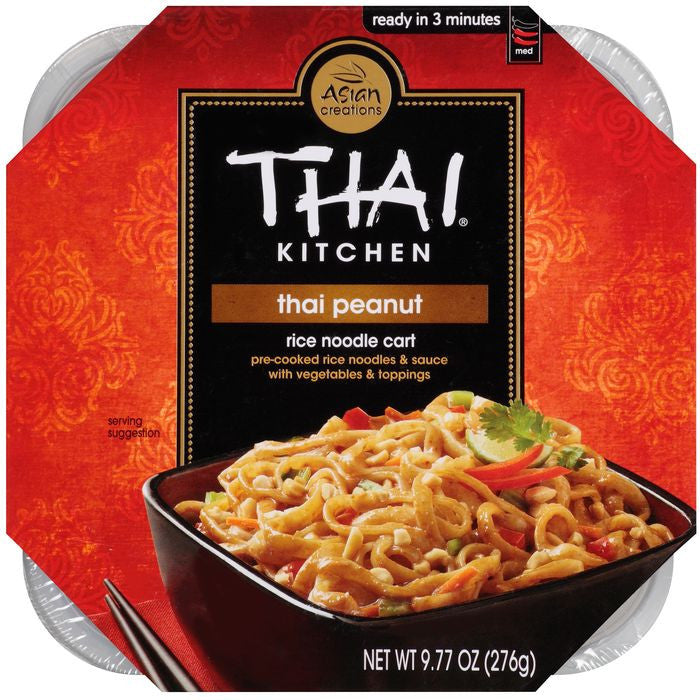Thai Kitchen Rice Noodle Cart Thai Peanut 9.77 Oz Microwave Bowl (Pack of 6)