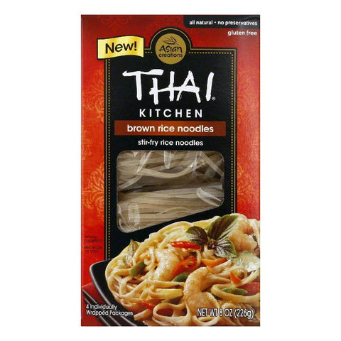 Thai Kitchen Brown Rice Noodles Stir-Fry Rice Noodles, 8 Oz (Pack of 6)