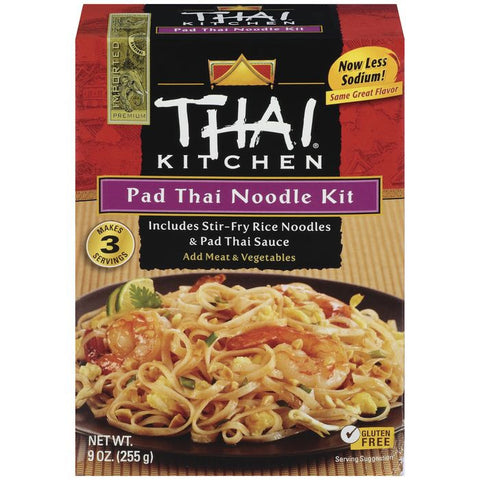 Thai Kitchen TK Pad Thai Noodles Noodles & Sauce 9 Oz  (Pack of 12)