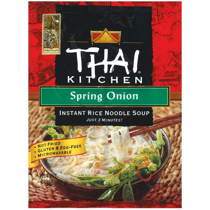 Thai Kitchen TK Spring Onion Inst Noodle Instant Rice Noodle Soups 1.6 Oz Bag (Pack of 12)