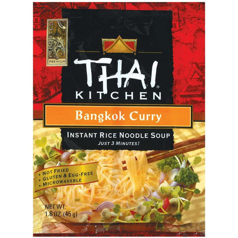 Thai Kitchen TK Bangkok Curry Inst Noodle Instant Rice Noodle Soups 1.6 Oz Bag (Pack of 12)