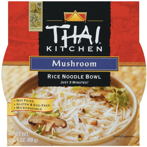 Thai Kitchen TK Rice Noodle Bowl Mushroom Rice Noodle Bowls 2.4 Oz Microwave Bowl (Pack of 6)