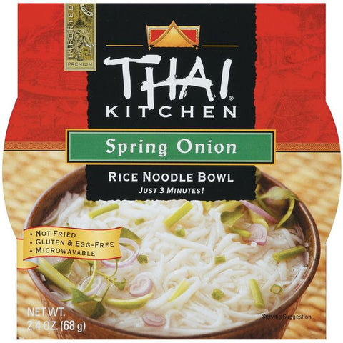 Thai Kitchen TK Rice Noodle Bowl Spring Onion Rice Noodle Bowls 2.4 Oz Microwave Bowl (Pack of 6)