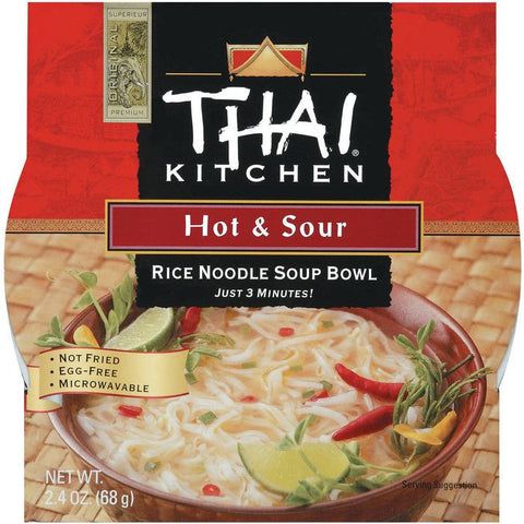 Thai Kitchen TK Hot & Sour Noodle Bowl  Rice Noodle Bowls 2.4 Oz Microwave Bowl (Pack of 6)