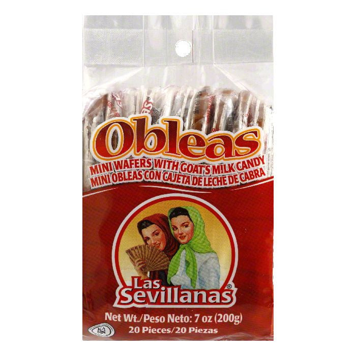 Las Sevillanas Obleas Con Cajeta, 7 OZ (Pack of 15)
