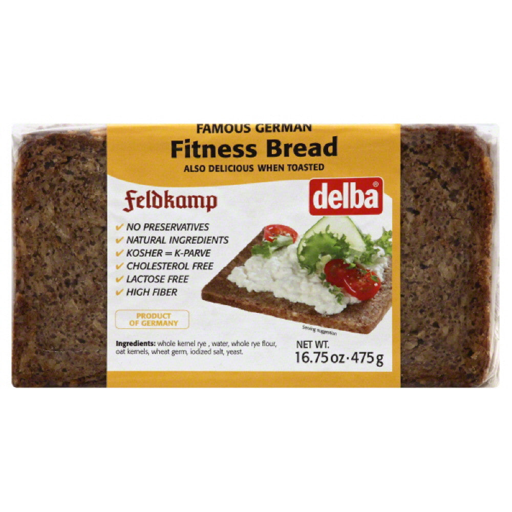 Delba Fitness Bread, 16.75 Oz (Pack of 12)
